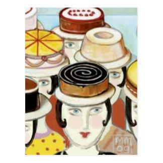 Gelassen ihnen Kuchen-Postkarte tragen Postkarte