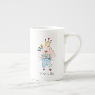 Gelassen ihr seien Sie wenig Knochen-China-Tasse Porzellantasse