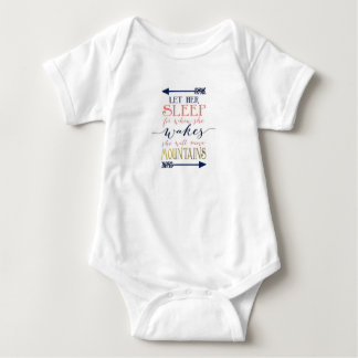 Gelassen ihrem Schlaf-Baby-Duschen-Geschenk Baby Strampler