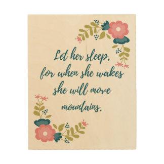 Gelassen ihrer Schlaf-hölzernen Wand-Kunst Holzwanddeko