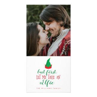 Gelassen mir nehmen Sie ein Elfie Weihnachten Karte