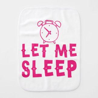 gelassen mir schlafen Rosa mit Wecker Baby Spucktuch