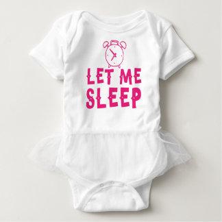 gelassen mir schlafen Rosa mit Wecker Baby Strampler