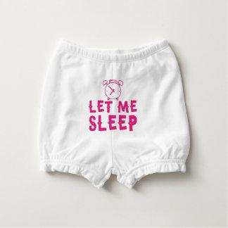 gelassen mir schlafen Rosa mit Wecker Baby-Windelhöschen