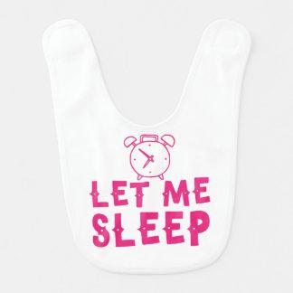 gelassen mir schlafen Rosa mit Wecker Lätzchen