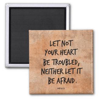 Gelassen nicht Ihrem Herzen seien Sie gestörter Quadratischer Magnet