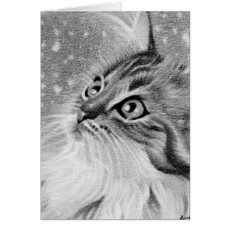 Gelassen Schnee Kitty-Katze Karte