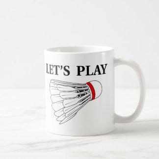 Gelassen uns Badminton spielen Kaffeetasse