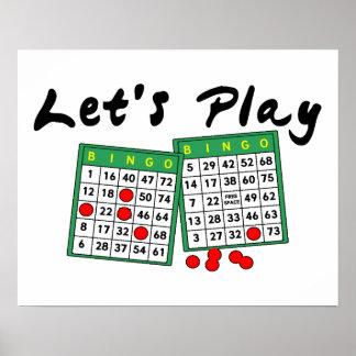 Gelassen uns Bingo spielen Poster