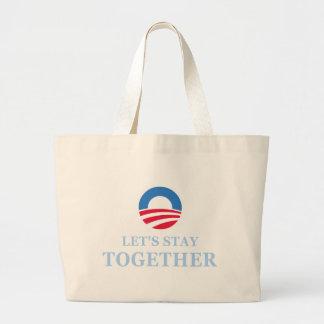 Gelassen uns bleiben Sie zusammen Einkaufstaschen