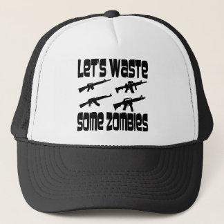 Gelassen uns einige Zombies vergeuden Truckerkappe