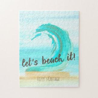 Gelassen uns es auf den Strand setzen Puzzlespiel Puzzle