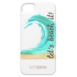 Gelassen uns es kaum dort auf den Strand setzen iPhone 5 Hülle