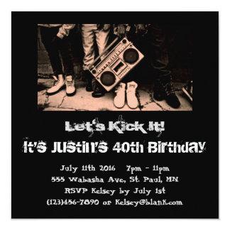 Gelassen uns es treten Geburtstags-Einladung Karte