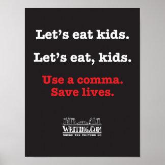 Gelassen uns essen Sie Kinder Poster