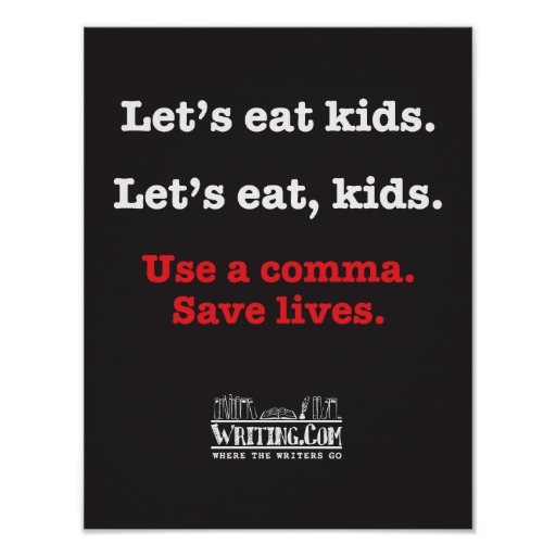 Gelassen uns essen Sie Kinder Plakate