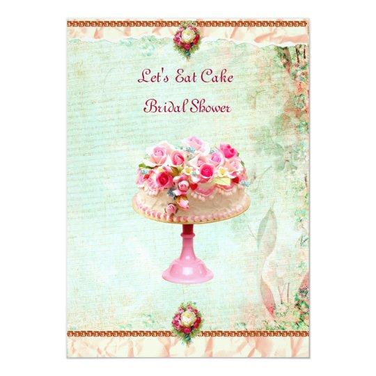 Schön Gelassen Uns Essen Sie Kuchen Brautparty Einladung 12,7 X 17,8