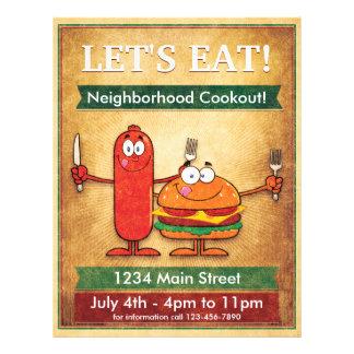 Gelassen uns essen Sie! NachbarschaftCookout Flyer