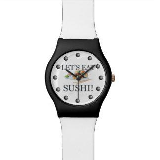 Gelassen uns essen Sie Sushi Armbanduhr