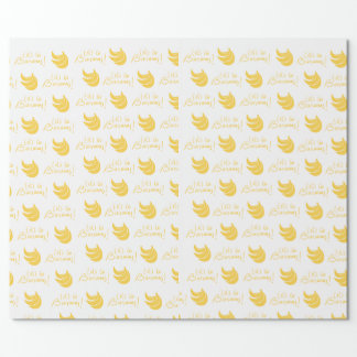 Gelassen uns gehen Bananen! Packpapier