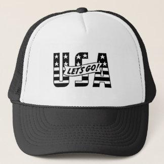 Gelassen uns gehen USA! Truckerkappe