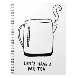 Gelassen uns haben Sie einen Gleichheit-Tee Spiral Notizblock