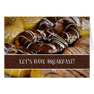 Gelassen uns haben Sie Frühstücks-Krapfen-Gebäck Karte