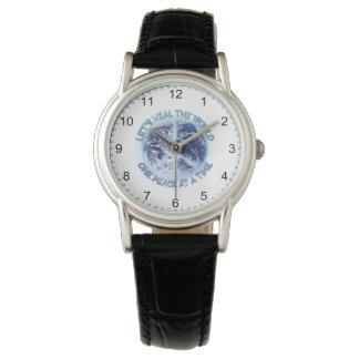 Gelassen uns heilen Sie die Welt - einen Frieden Armbanduhr