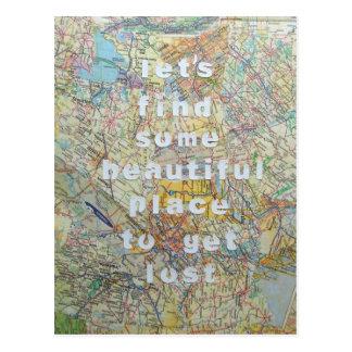 Gelassen uns irgendeine schöne Platz-Postkarte fin Postkarte