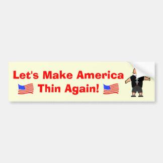 Gelassen uns machen Sie Amerika dünn wieder Autoaufkleber