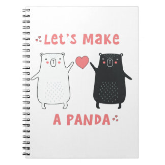 gelassen uns machen Sie einen Panda Spiral Notizblock