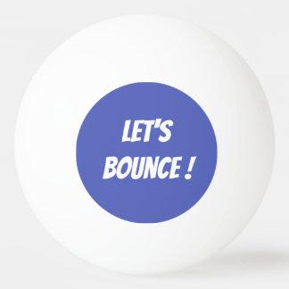 Gelassen uns Ping Pong Ball aufprallen Tischtennis Ball