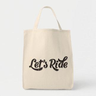 Gelassen uns reiten! einkaufstasche