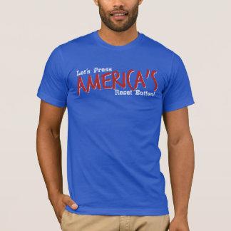 Gelassen uns Reset-Taste drücken Amerikas - T - T-Shirt