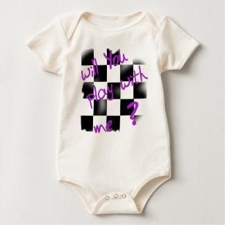 gelassen uns Schach, Baby spielen Baby Strampler