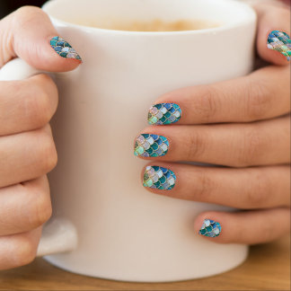 Gelassen uns seien Sie Meerjungfrauen Minx Nagelkunst