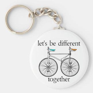 Gelassen uns seien Sie zusammen unterschiedlich Schlüsselanhänger