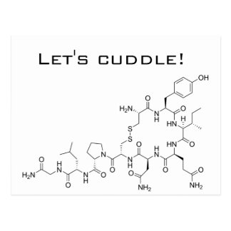 Gelassen uns streicheln! Oxytocin Postkarte