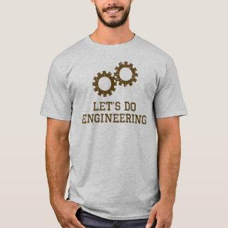 Gelassen uns Technik (braunen Entwurf) tun T-Shirt