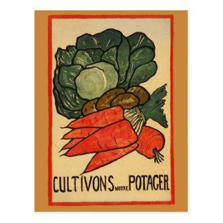 Gelassen uns wachsen Sie einen Gemüsegarten Postkarte