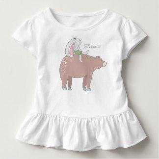 Gelassen uns wandern gekräuseltes kleinkind t-shirt