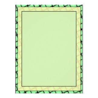 Gelb auf grünem Webart-freiem Raum Flyer