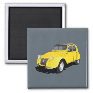 Gelb Citroëns 2CV (deux chevaux) Quadratischer Magnet