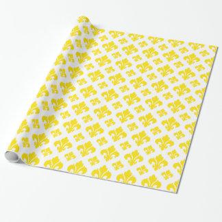 Gelb der Lilien-2 Geschenkpapierrolle