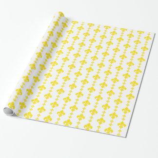 Gelb der Lilien-3 Einpackpapier