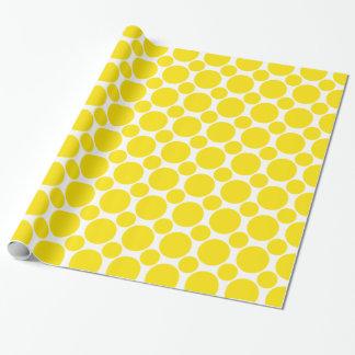 Gelb des Punkt-2 Geschenkpapier