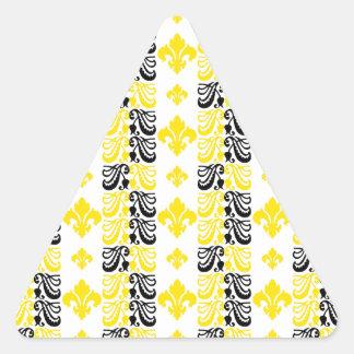 Gelb Fleur Streifen-1a Dreiecks-Aufkleber