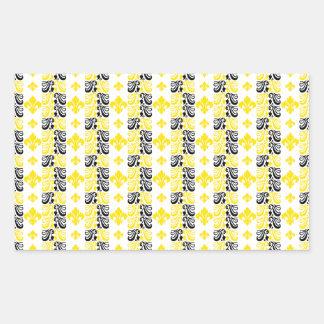 Gelb Fleur Streifen-1a Rechteckiger Aufkleber