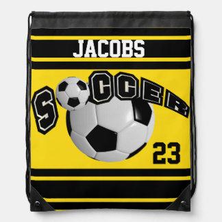 Gelb Fußball-Sport-Jerseys | DIY Namen-und Zahl-| Turnbeutel