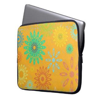 Gelb gemustert laptop sleeve